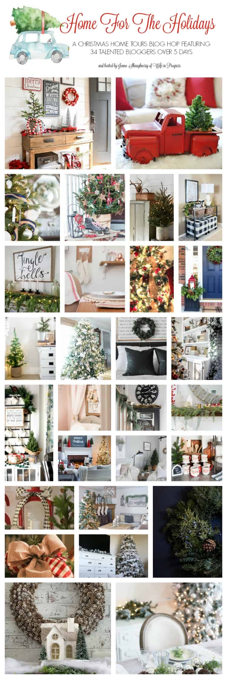 34 talented bloggers share their beautiful and elegant Christmas ideas for the home. Tour their homes and be inspired to decorate your own this Christmas!
