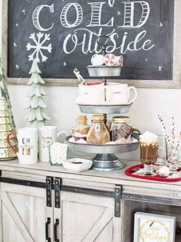 Hot chocolate bar for Christmas