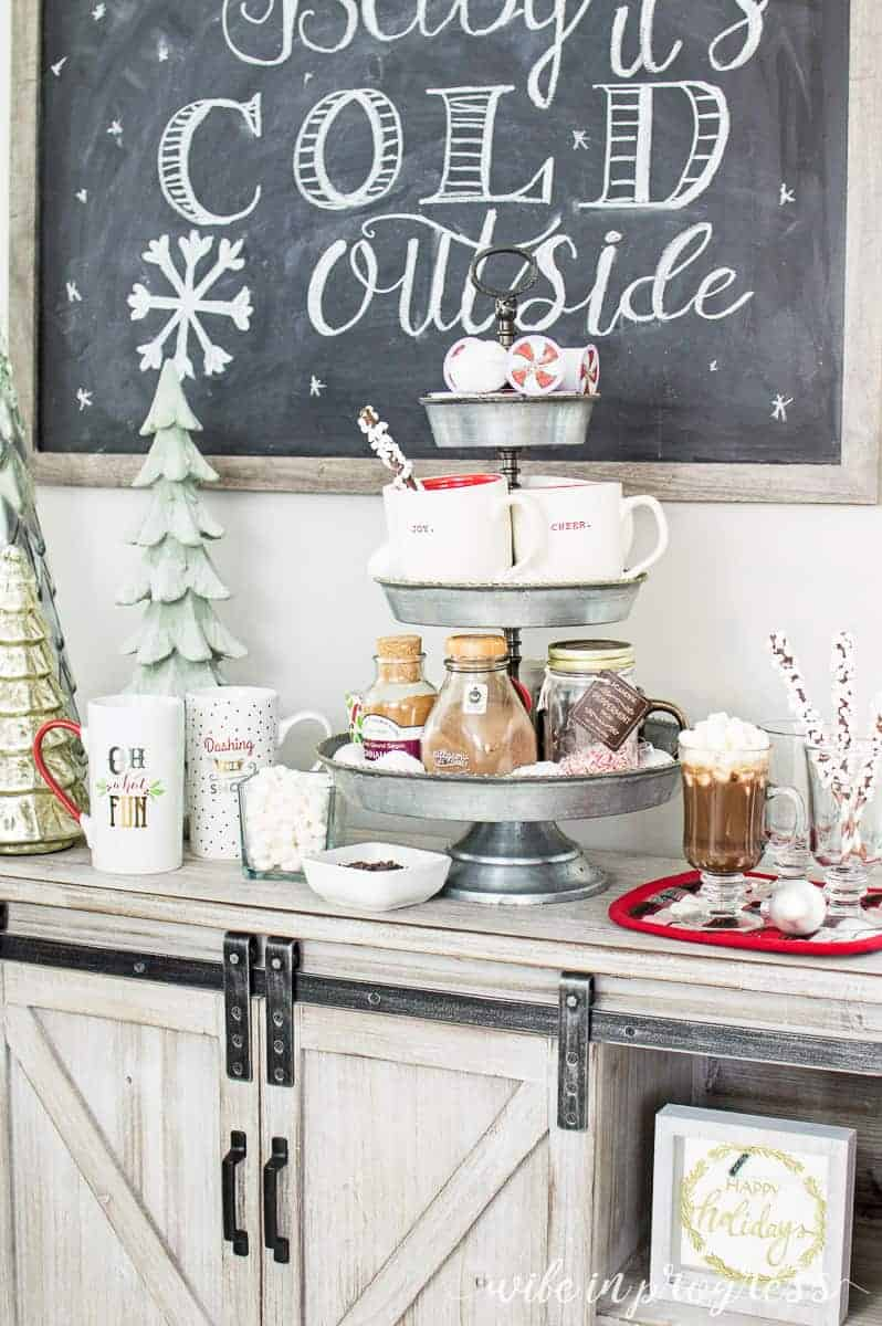 A simple hot chocolate bar for Christmas