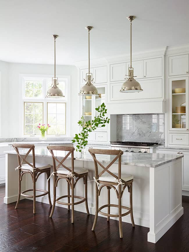 Kitchen Painted Paper White Benjamin Moore