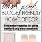 Blush pink budget friendly home decor items
