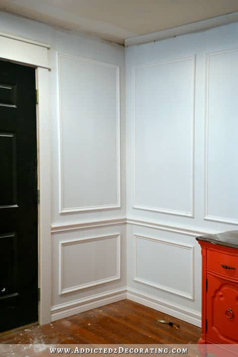 how to install picture frame wainscoting