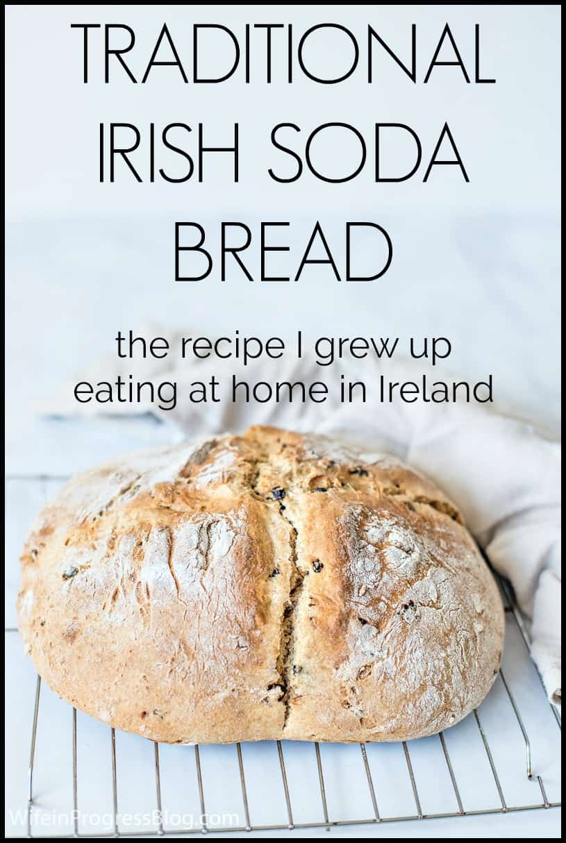 A Traditional Irish Soda Bread Recipe from someone who's actually from Ireland. It only has a few simple ingredients, it's quick to make and tastes absolutely delicious!