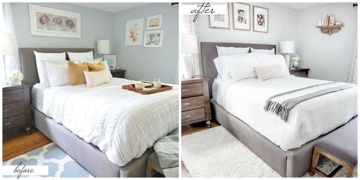 Small master bedroom makeover before and after