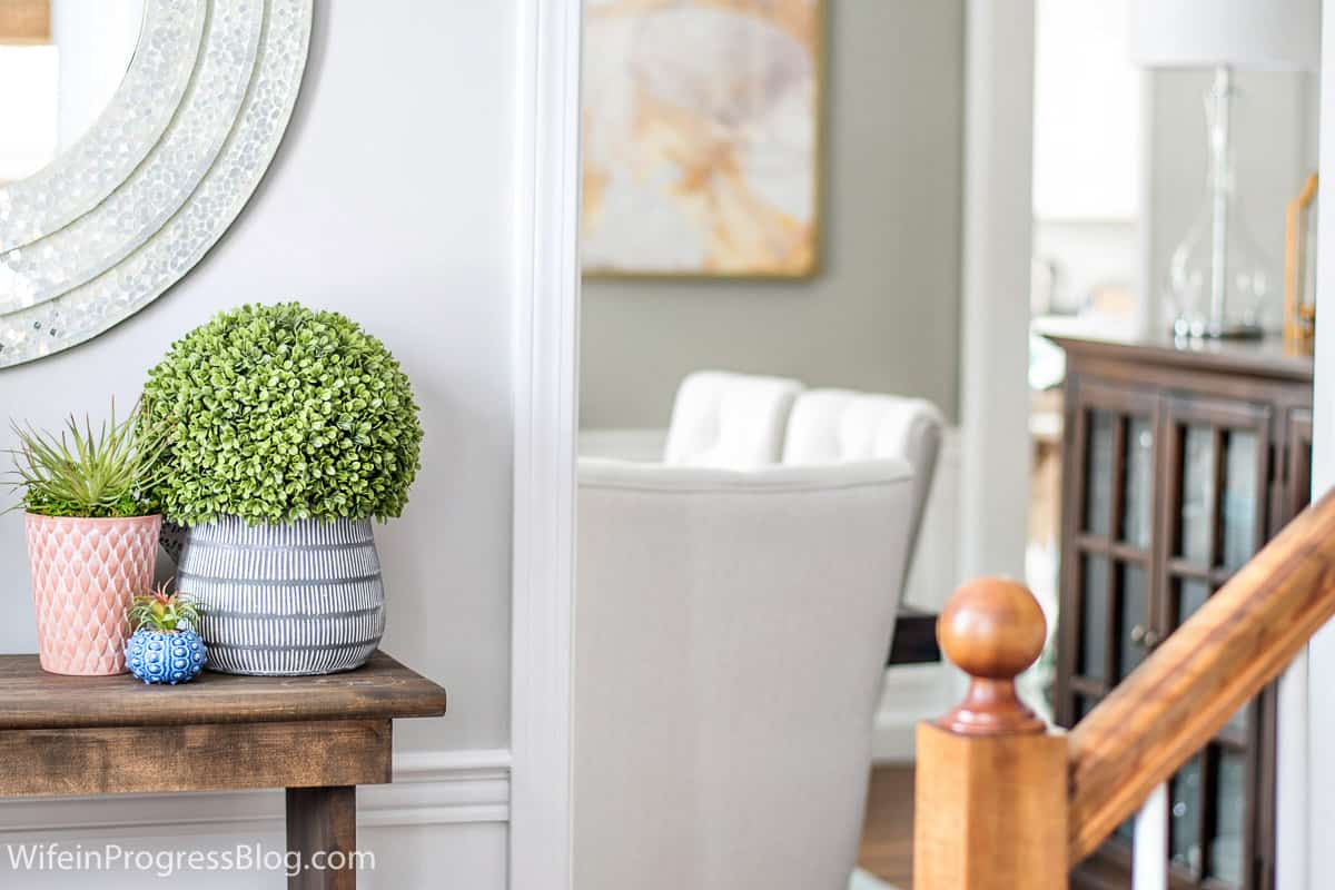 Easy spring entryway ideas 2018 spring home tour for Home design ideas instagram