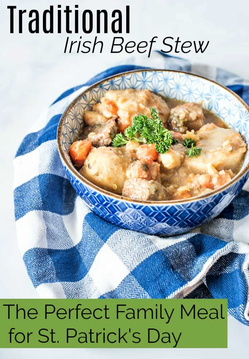 This Traditional Irish Beef Stew made with potatoes and carrots is a great St. Patrick's Day meal for families. Both my 1 and 3 year olds devour this every single time!