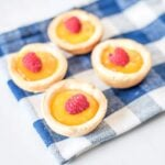 lemon curd & raspberry tarlets