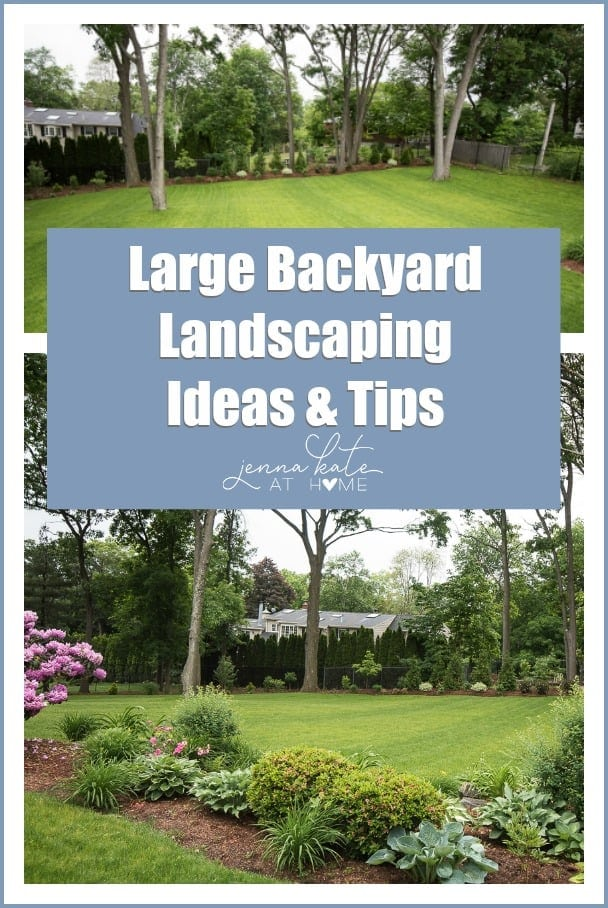 Big Backyard Landscaping Ideas our yard this spring: large backyard landscaping inspiration