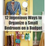 12 ways to organize a small bedroom on a budget