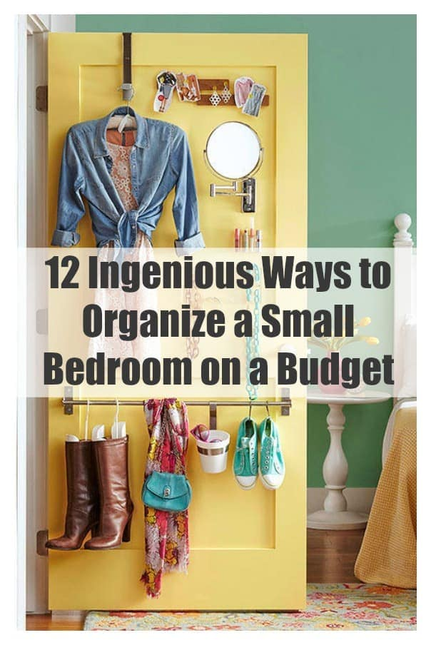 12 ingenious ways to organize a small bedroom on a budget