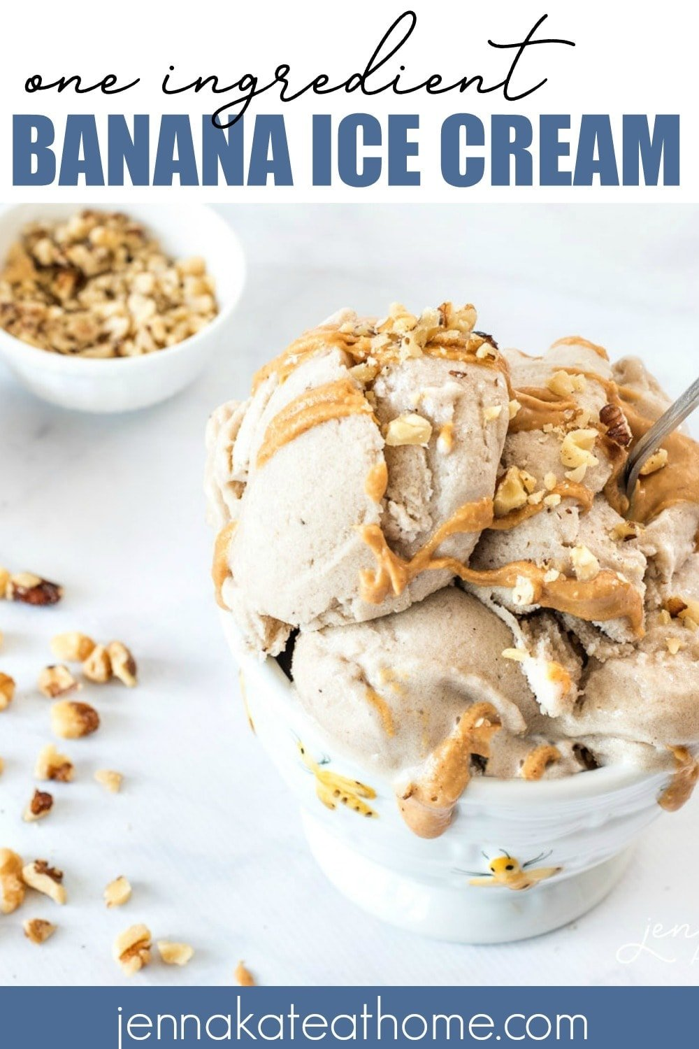 "This healthy banana ""ice cream"" is made with only 1 ingredient - bananas! But adding chocolate chips and peanut butter turns it into a decadent treat that you don't need to feel guilty about!"