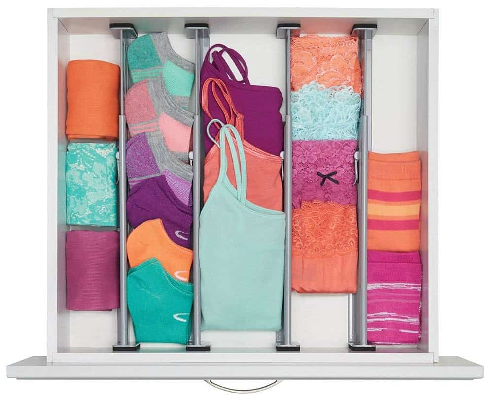 Use drawer organizers to maximize organization on a budget