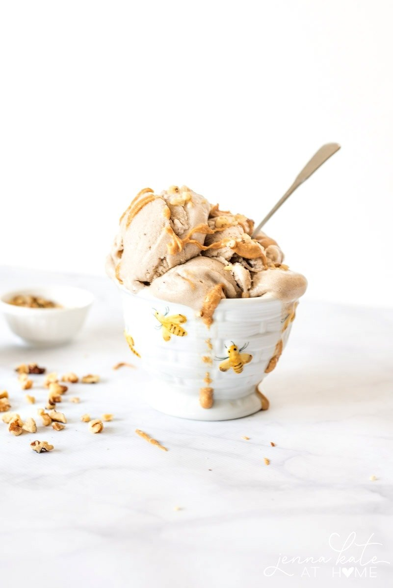 Over ripe bananas are for more than just banana bread! This creamy, no churn ice cream is made with ONLY bananas and tastes amazing!