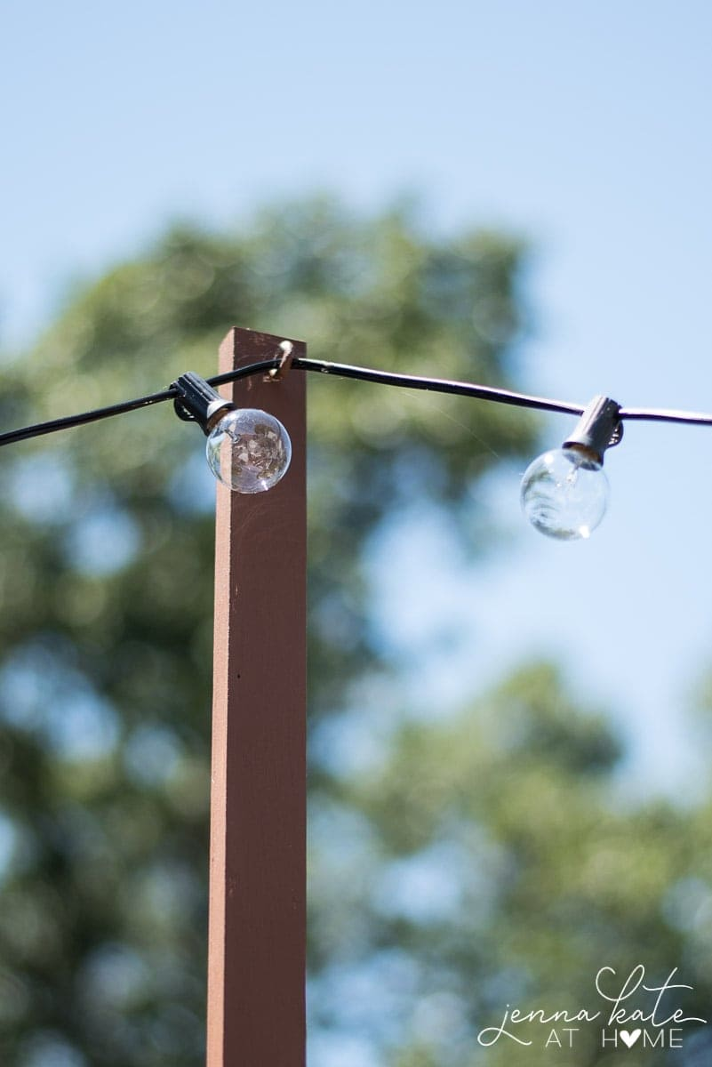 The Easiest Way To Hang String Lights On Your Deck Jenna