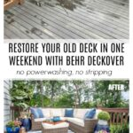 Restore your old deck in one weekend without stripping or power washing