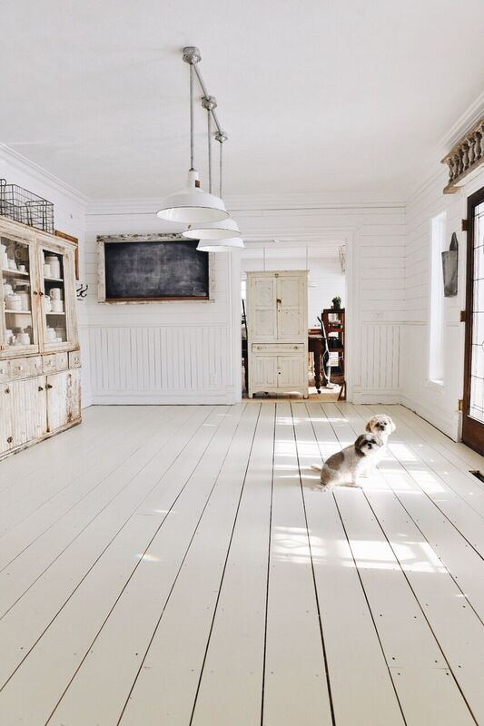 Bring a new look to old floors by painting them