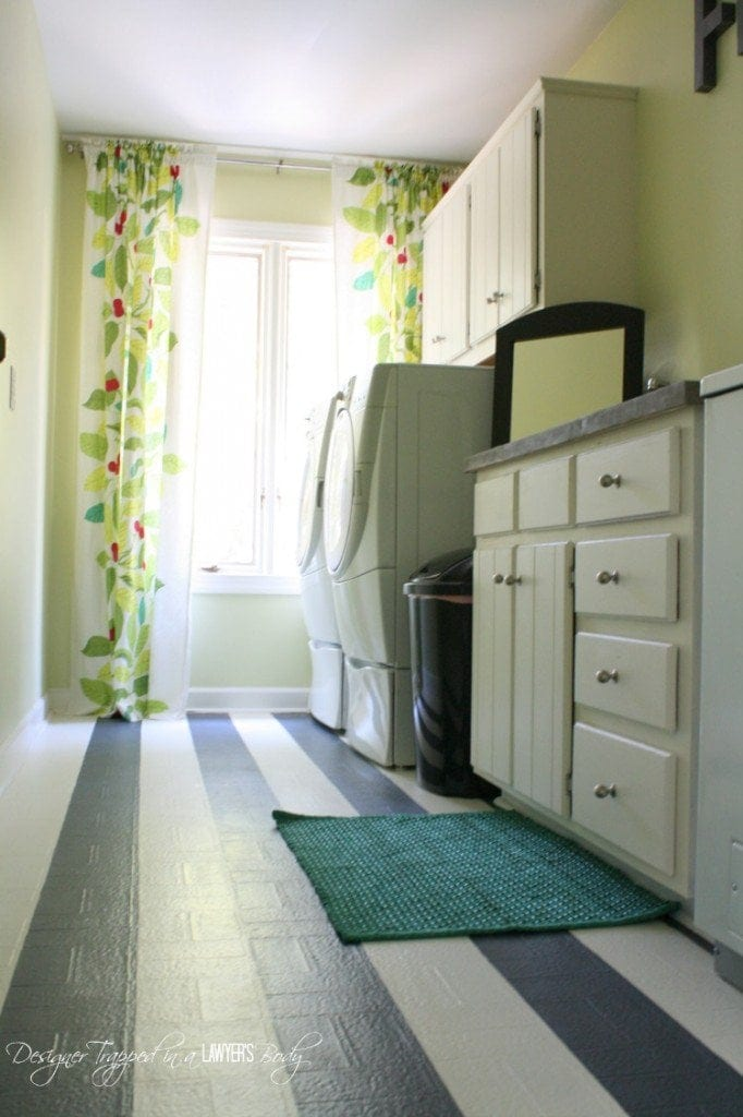 painting linoleum is a cheap way to upgrade your floor