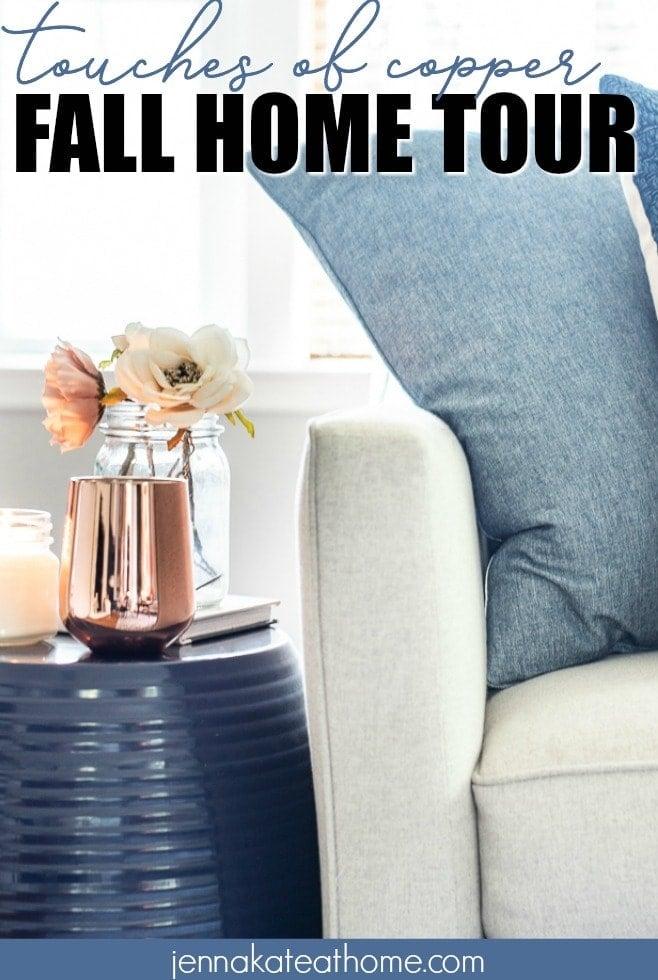 copper decor for fall decor