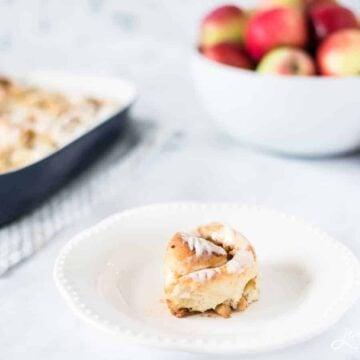 Homemade apple pie cinnamon rolls