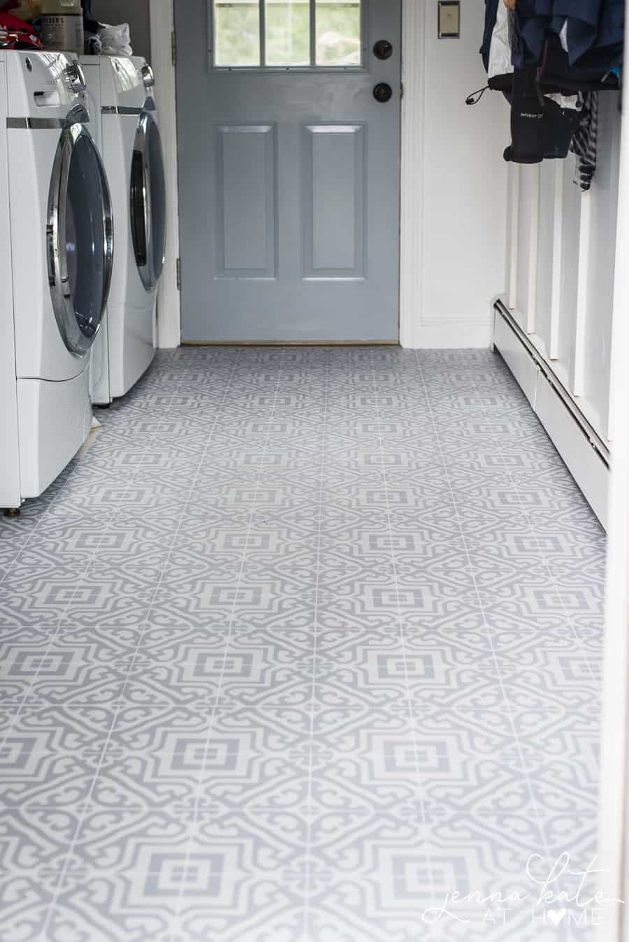 The Laundry Room Floor - Jenna Kate at Home