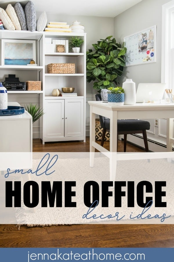 Modern Coastal Office Reveal - Jenna Kate at Home