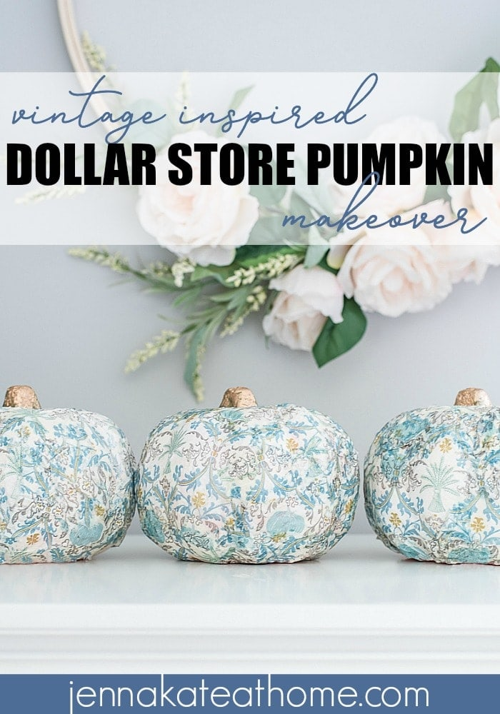 A dollar store pumpkin makeover that you're going to want to use in your fall decorating this season!