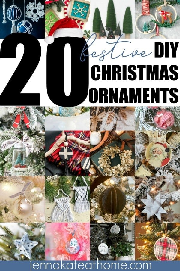 20 festive & beautiful DIY ornament ideas for you to make or sell this Christmas