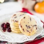 Cranberry Orange Shortbread Cookie