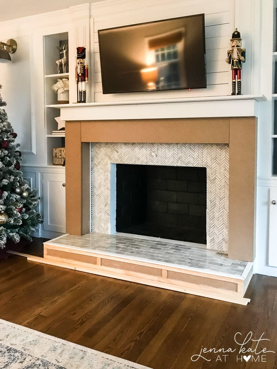 Diy Fireplace Mantel And Surround Jenna Kate At Home