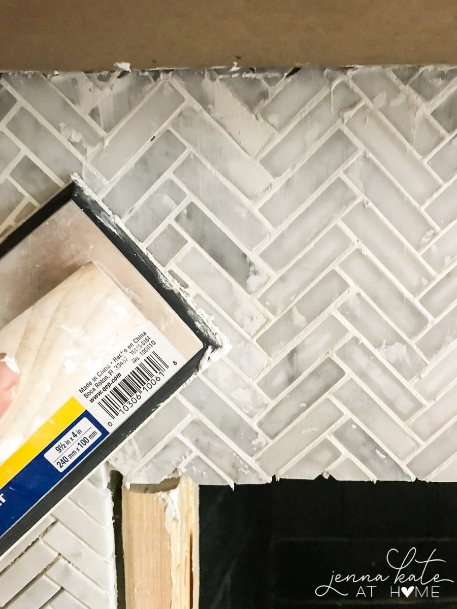 How To Tile A Brick Fireplace Jenna Kate At Home