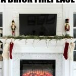 This tutorial shows how easy it is to tile right over an existing brick fireplace. It's a very doable DIY project!