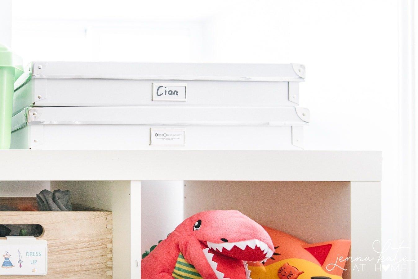 DIY playroom storage ideas