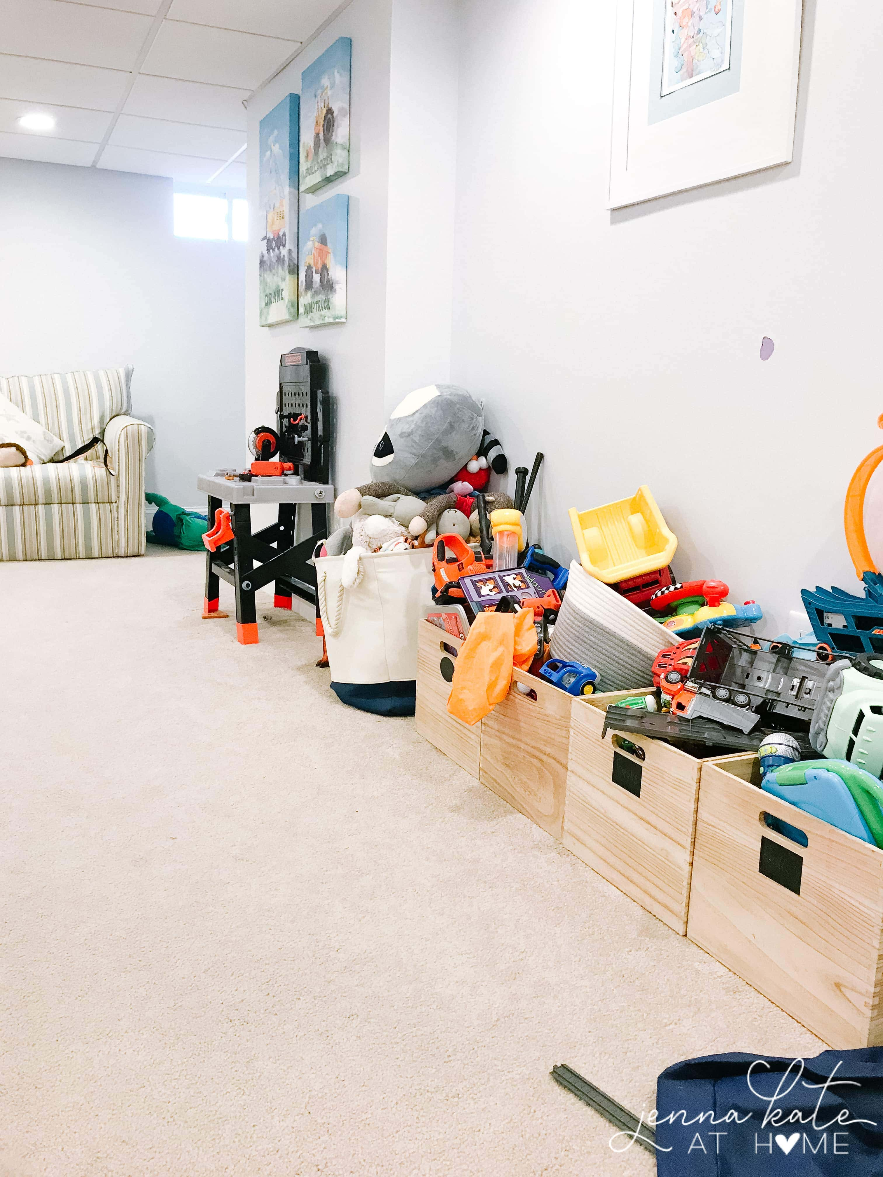 These are the steps to get your playroom organized once and for all