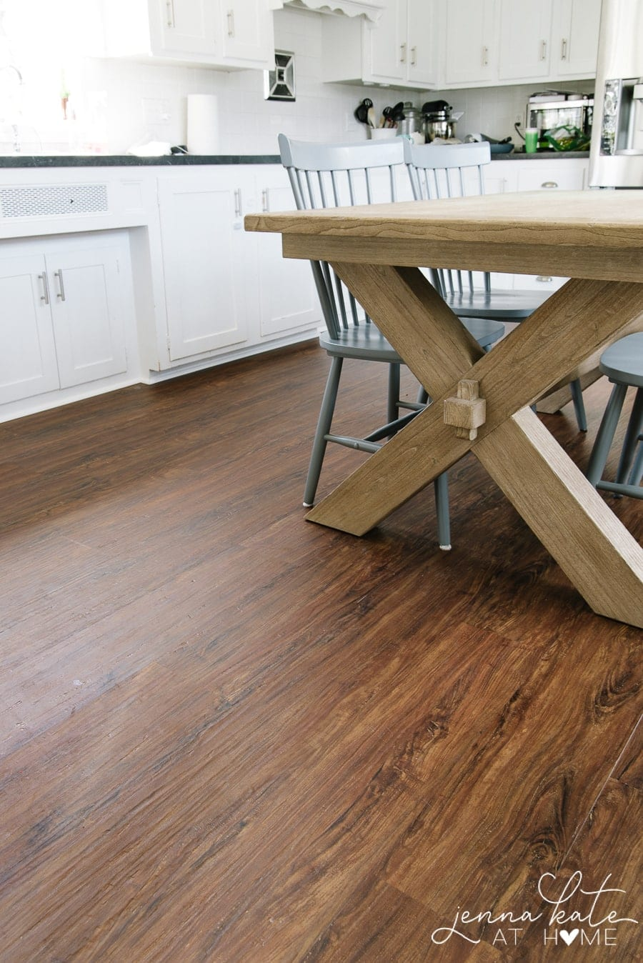 Kitchen Makeover How To Install Luxury Vinyl Plank Flooring