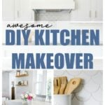 DIY kitchen makeover before and after