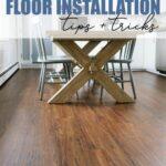Installing luxury vinyl plank flooring in the kitchen