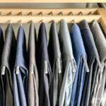Pants rack for men's walk-in closet