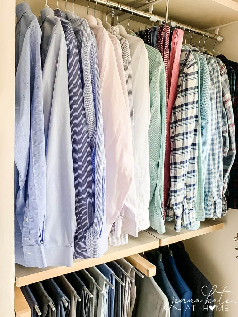 How to organize a walk in closet for men