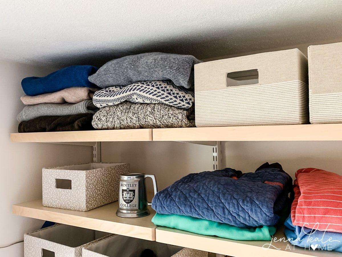DIY install of mens walk in closet