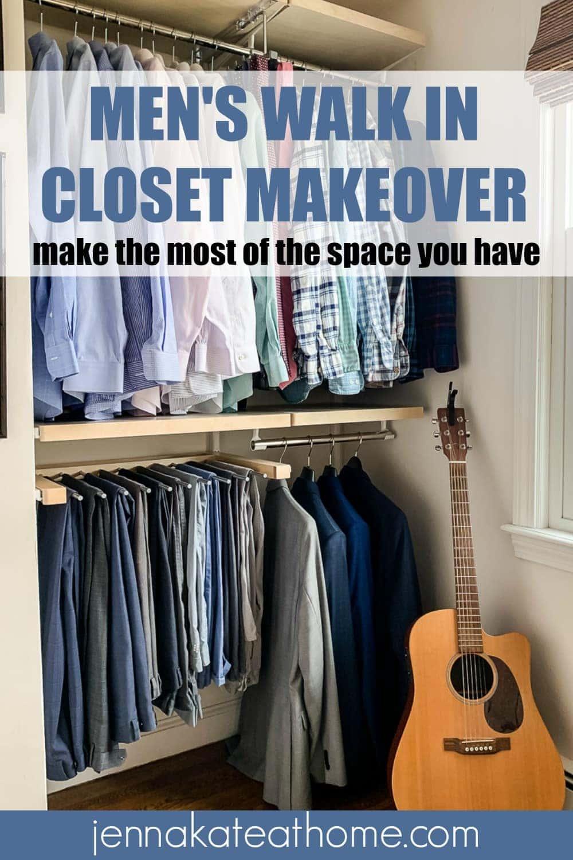 mens walk in closet makeover