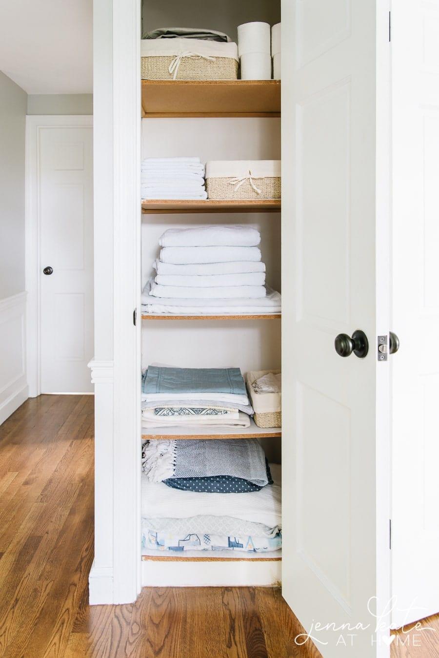 Linen Closet And Broom Closet Organization Jenna Kate At Home