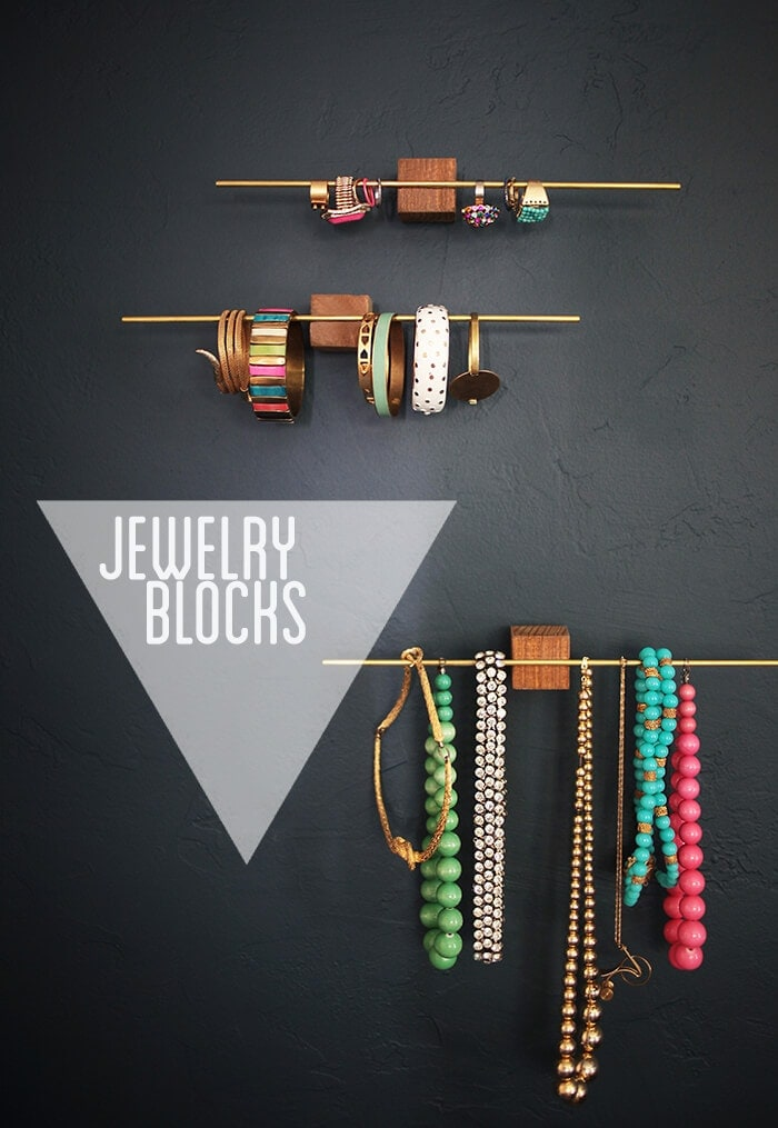 DIY ideas for jewelry storage