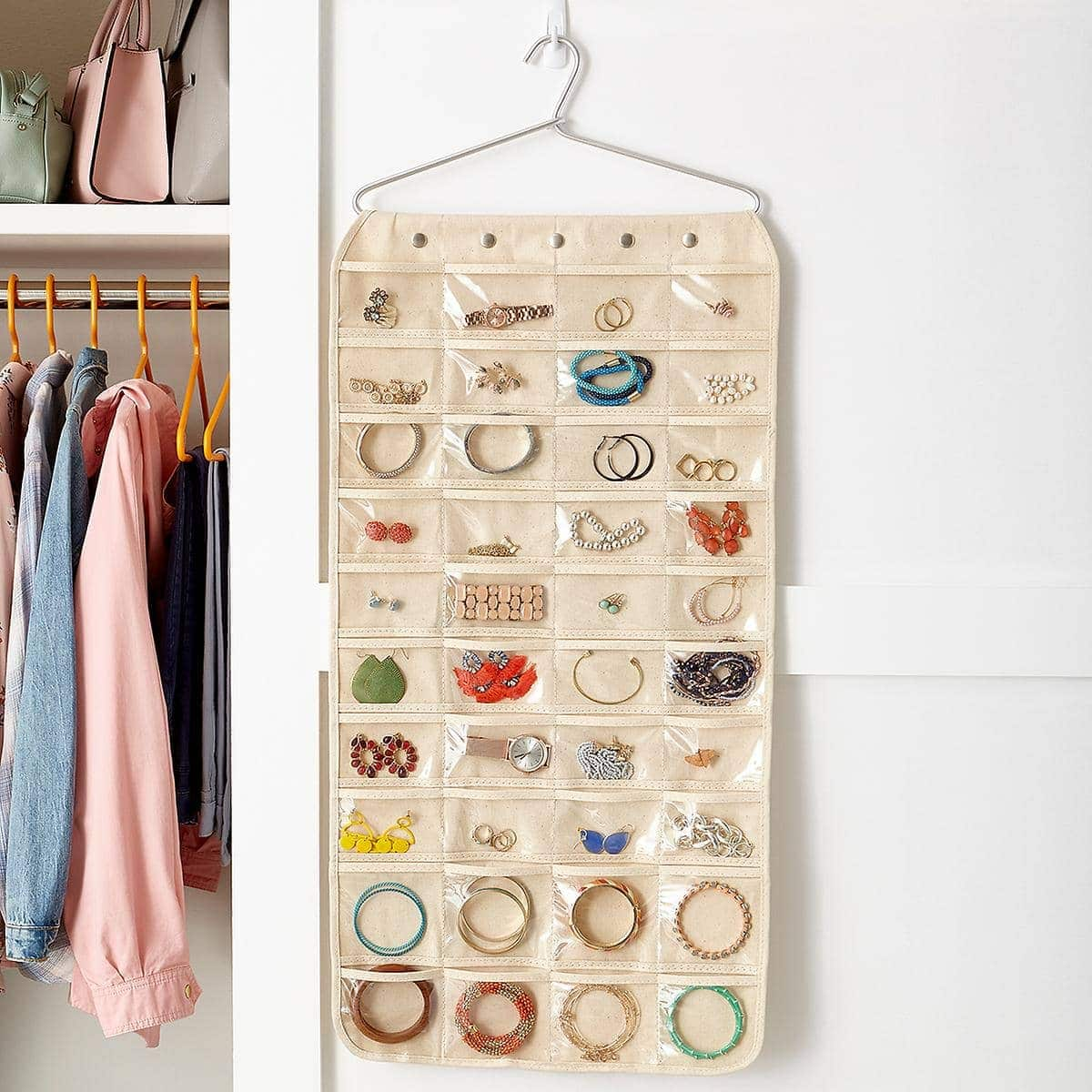 hang jewelry in the closet