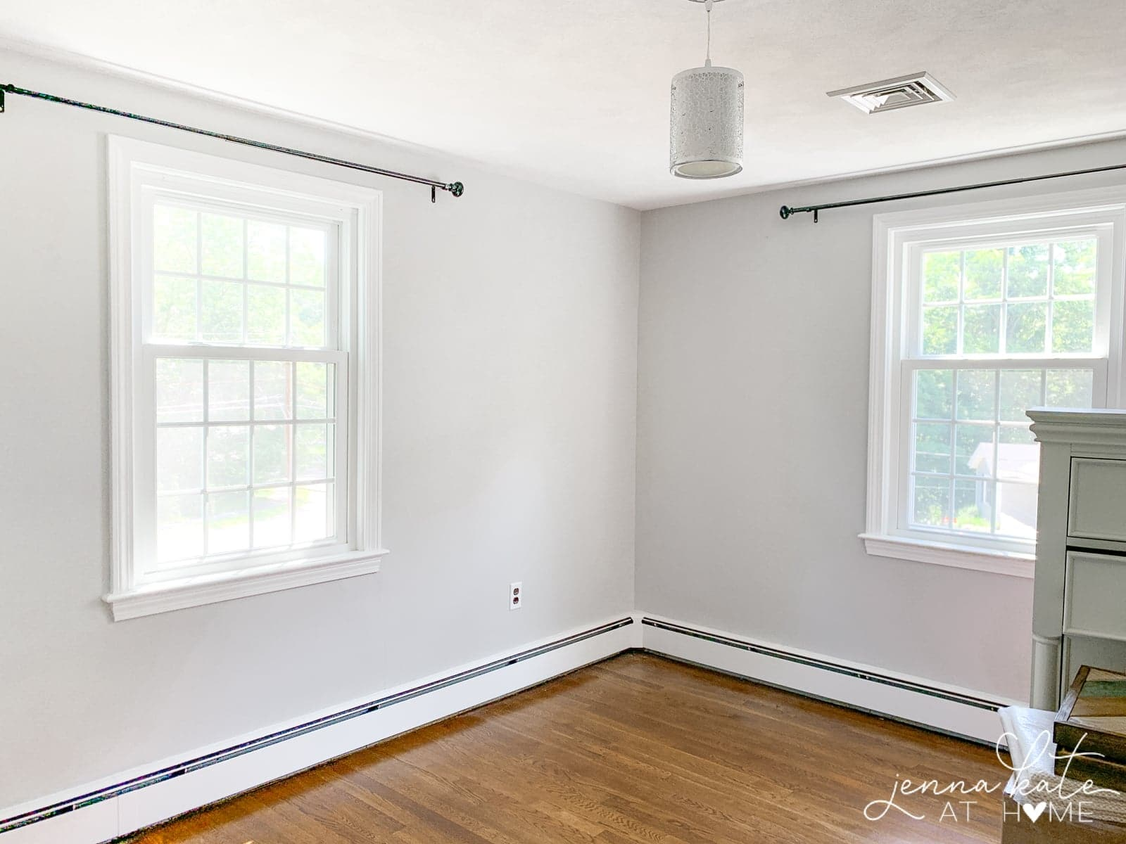Repainting walls from Stonington Gray to Pure White