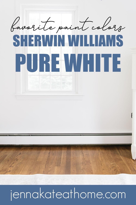 Sherwin Williams Pure White walls