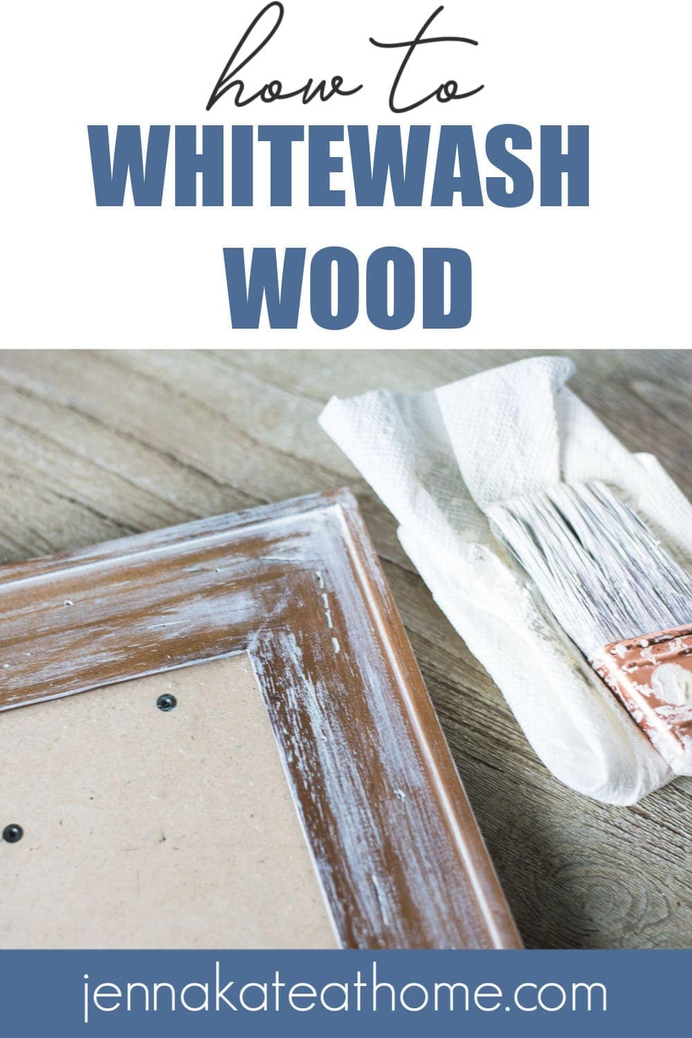 DIy tutorial how to whitewash wood