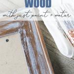 How to whitewash wood pinterest