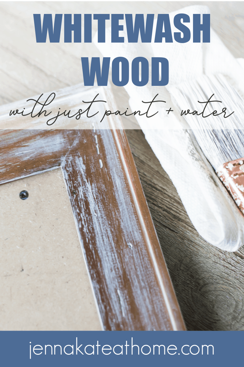 How to whitewash wood pinterest