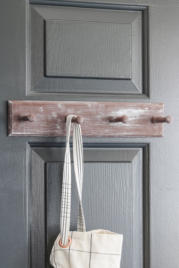 whitewashed pantry door hanger