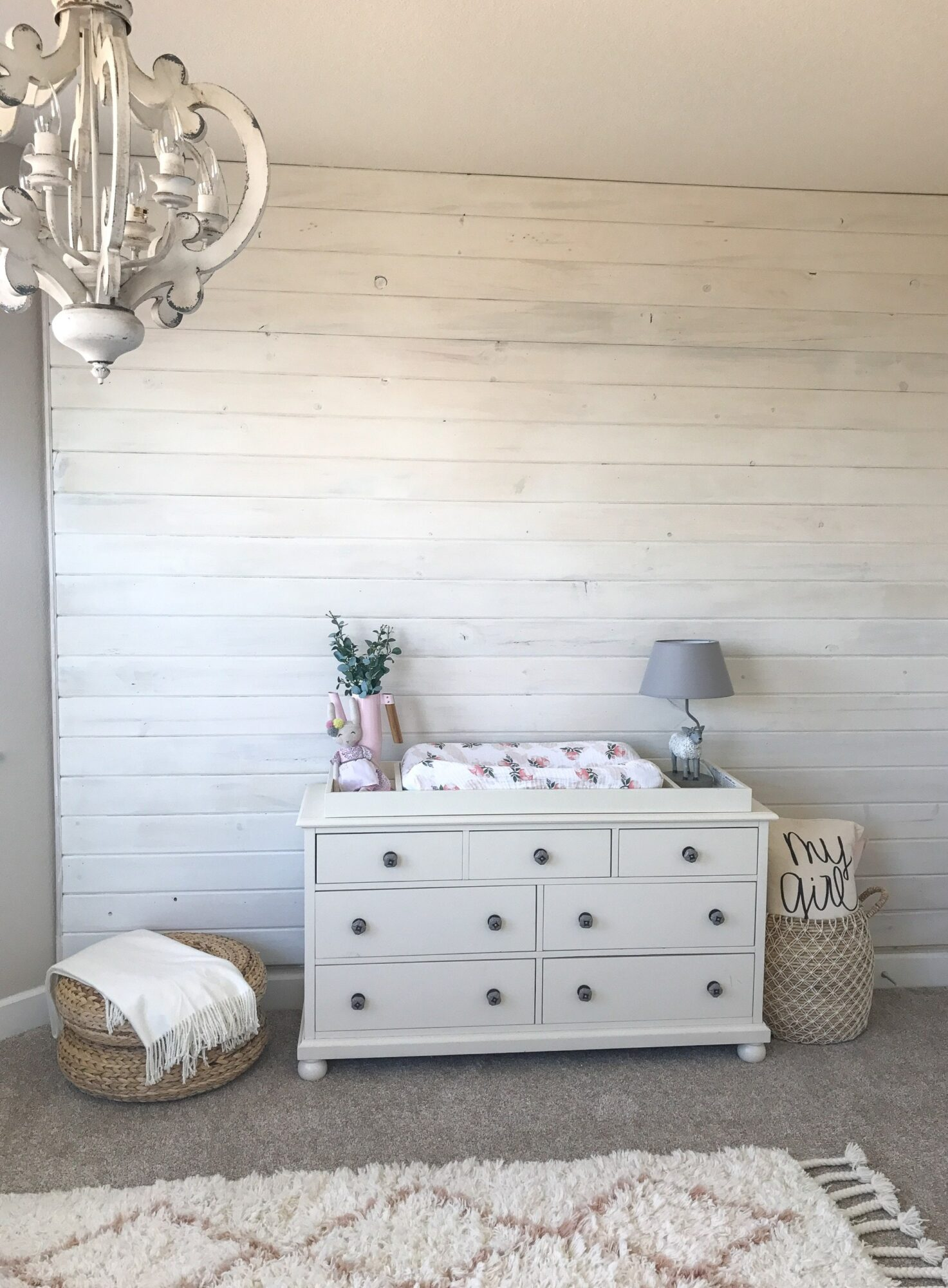 How to whitewash a wood panelled wall